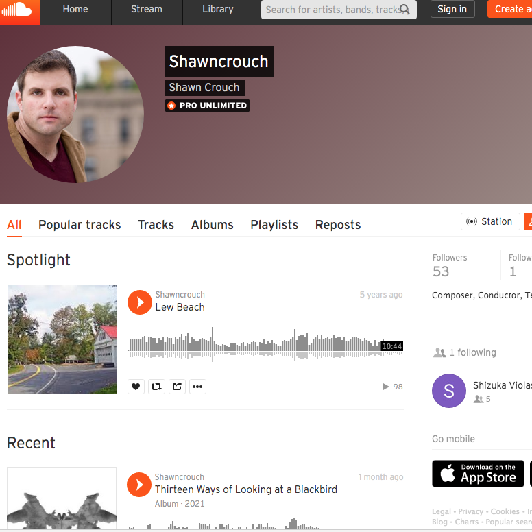 Shawn Crouch Soundcloud